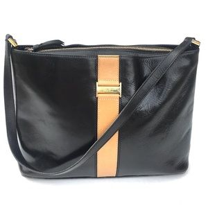 Kate Spade Vintage Black and Tan Handbag